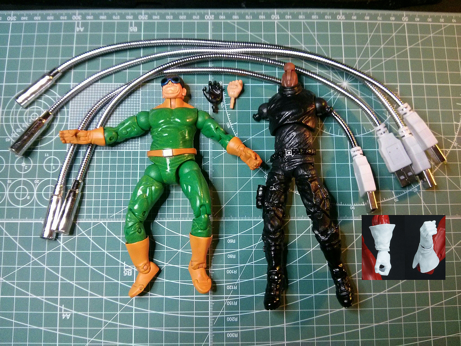 64ca3768dec0c For this figure I used the Series 8 Marvel Legends Doc Ock, boots and hand  from the three pack Nick Fury, gauntlets from Red Guardian,fist from Iron  Fist, ...