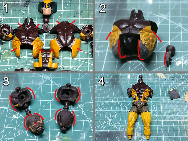 marvel Legends Custom Action Figure Toy wolverine xmen rafael grampa Tutorial