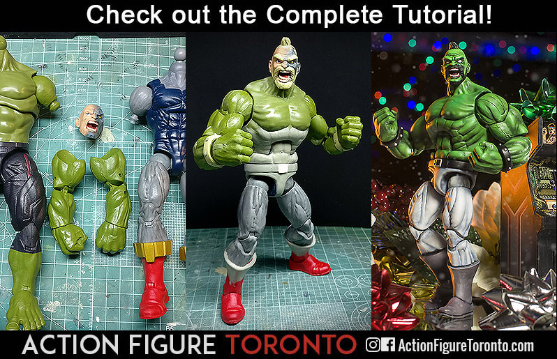 retro arcade double dragon fwoosh Custom Action Figure Toy Tutorial