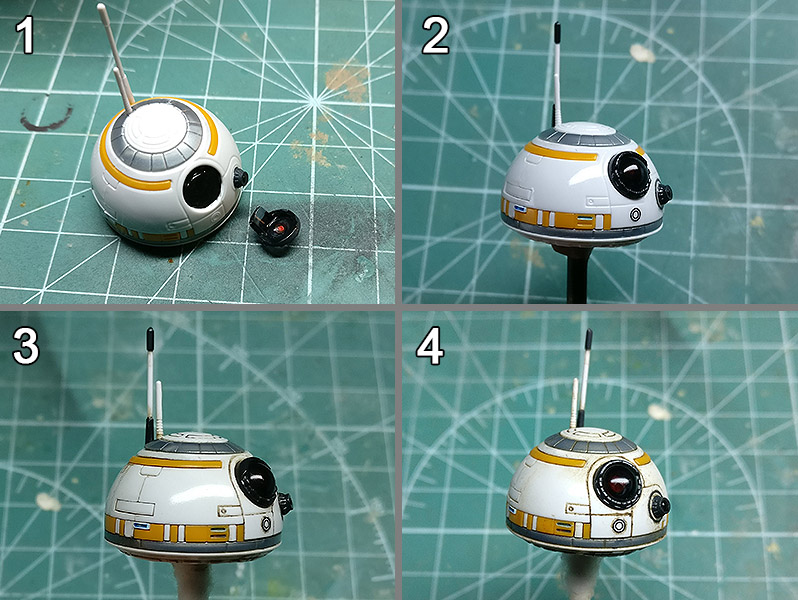 BB8 Star Wars Droid Bandai Model Scale Custom Action Figure Toy Tutorial